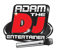 graphic image Adam DJ Disc Jockey Entertainer logo design