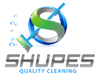 graphic image company logo design Shupes Quality Cleaning